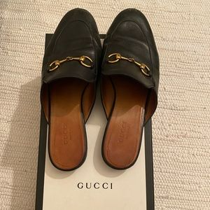 Gucci Princetown leather slipper mules